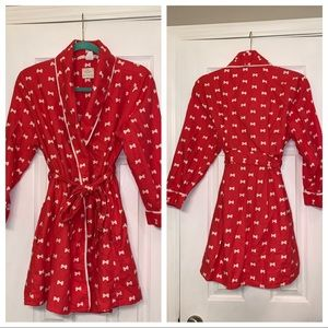 Kate Spade Sample Robe Coral Bows
